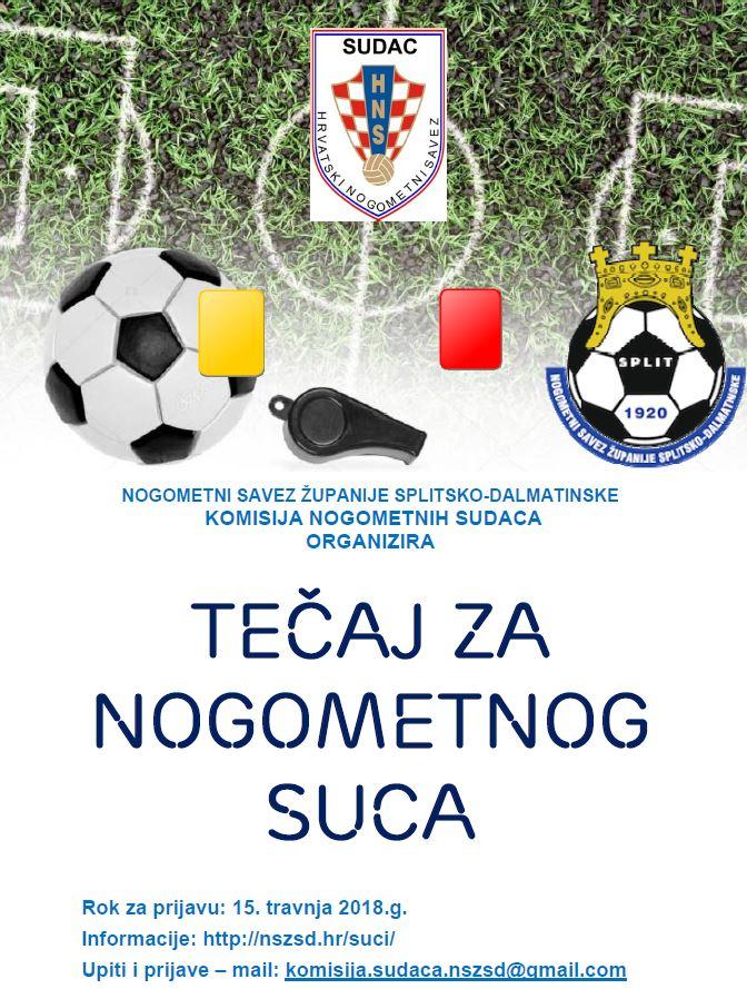 Tečaj za nogometnog suca - plakat